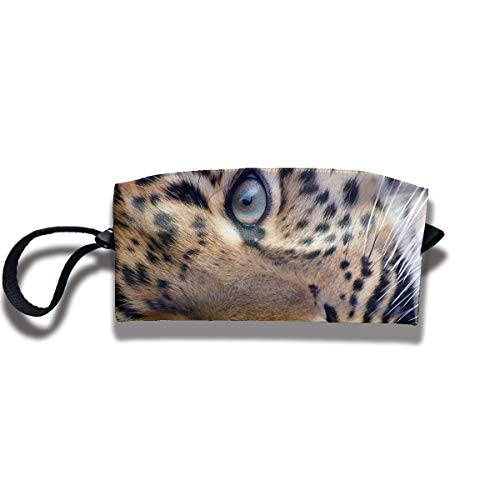 Cosmetic Bags With Zipper Makeup Bag Tiger Eyes Middle Wallet Hangbag Wristlet Holder -