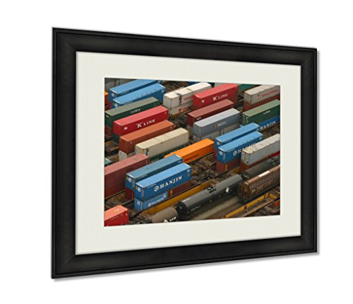 ashley-framed-prints-train-yard-wall-art-decor-giclee-photo-print-in-black-wood-frame-soft-white-mat