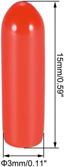 X4R X4RSB S6R//D Series//TF Series IPEX4 Receptor Antena sourcing map Pl/ástico Protecci/ón Tubo Antena con Tapas para FRSKY XM XM 2pcs Rojo