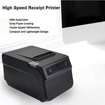 WXS Impresora Térmica De 80 Mm Impresora De Recibos POS con Puerto ...