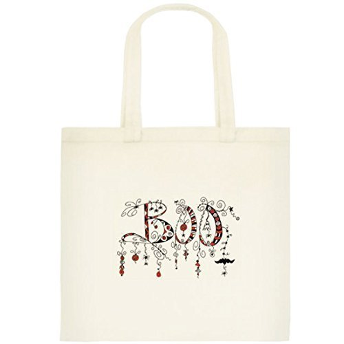 Halloween Trick or Treat Bag BOO Cotton Tote Bag Handmade