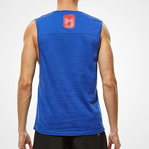 Bleu Débardeur Uni Dyuansm Hommes Gilets Paquet Entraînement Gym Coloré Haut ETzgq