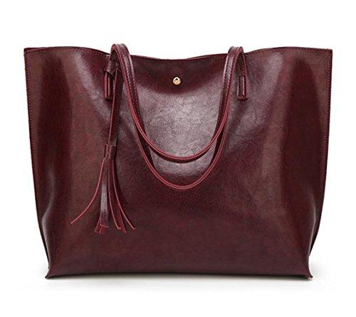 !Clearance! YUNS Women Large Capacity Shoulder Bags Tassel Buckle Handbags for Women Top Handle Bag Messenger Tote Bags
