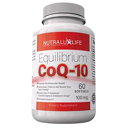 Faciles à avaler des gélules de Coenzyme Q10 soutient la santé cardiovasculaire et un antioxydant naturel ★ de nombre de 60 jours du supplément meilleur équilibre CoQ10 ★