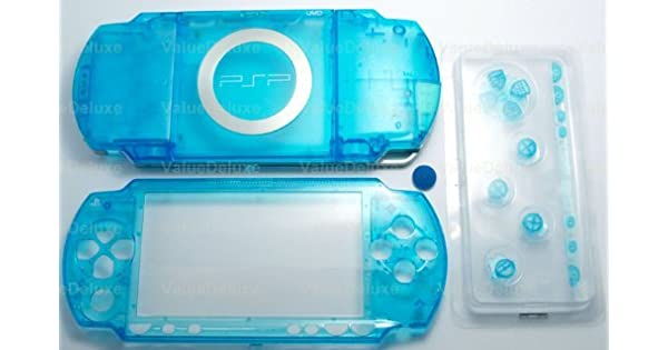 Amazon.com: Clear Blue - Sony PSP 1000 Full Housing Shell ...