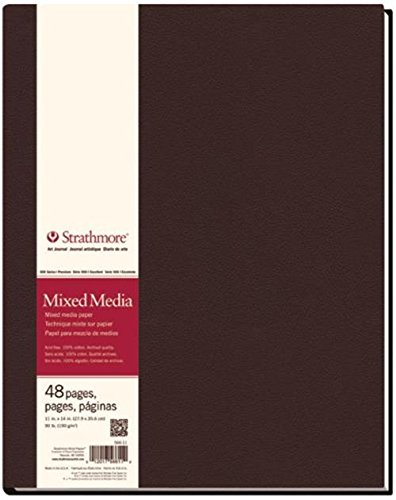 "Strathmore ((566-11 STR-566-11 48 Sheet No 90 Mixed Media Art Journal, 11 by 14"", 11""x14"", 24 from Strathmore"