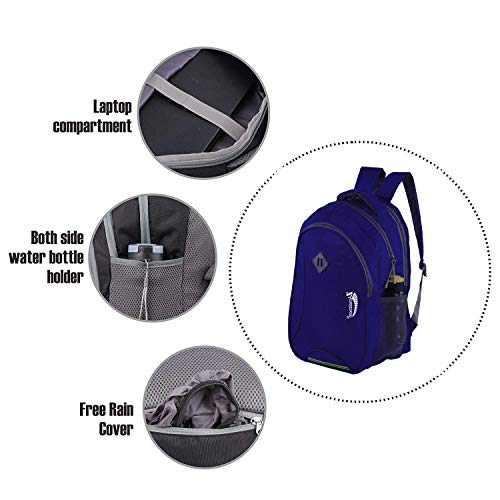 ZAmaizoom Bag 30 Ltrs Casual Waterproof Laptop Bag for Men Women Boys Girls/Office School College Teens & Students with Free RAIN Cover (16 Inch) (NB)