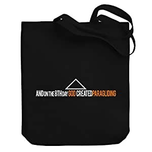 Valentine Herty Shopping bag GOD CREATED Paragliding Canvas Tote Bag