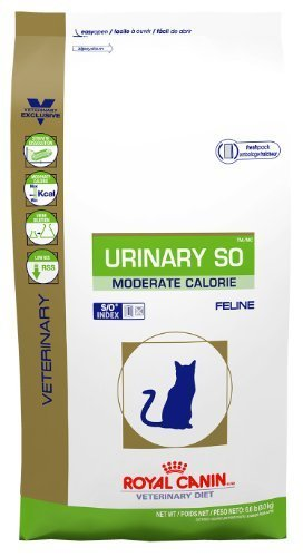 Royal Canin Feline Urinary SO Moderate Calorie Dry (3.3 lbs) (Best Food For Struvite Crystals In Cats)