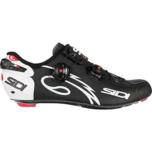 デザート信者ラップトップ(シディ) Sidi Wire Push Cycling Shoe メンズ ロードバイクシューズWhite/Matte Black [並行輸入品]
