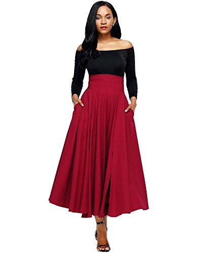 Red Long Skirt - 9