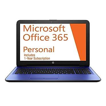 HP 14-AM052NR 14 Laptop PC with Free 1-Year Office 365, Intel Dual Core 2.48GHz, 4GB RAM, 32GB SSD, Webcam, Windows 10 (2016 Model)