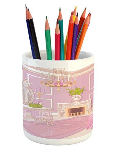 Cheap  Lunarable Teen Girls Pencil Pen Holder, Princess Dressing Room View in Antique..