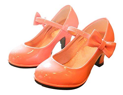 Lackoptik Princess Pumps Schuhe Abend Party Brinny Elegante Hochzeit Kinderschuhe Mädchen in mit Absätzen hohen Pink xxaT1n