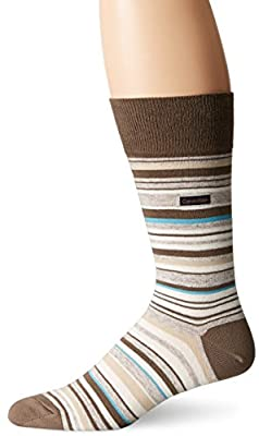 Calvin Klein Men's Barcode Multi-Stripe Crew Sock