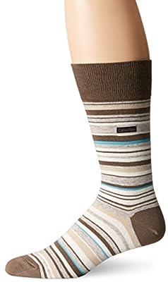 Calvin Klein Men's Barcode Multi-Stripe Crew Sock