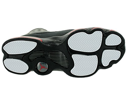 Nike Air Jordan 13 Retro Bg, Zapatillas de Deporte para Niños Negro / Rojo (Black / Gym Red)