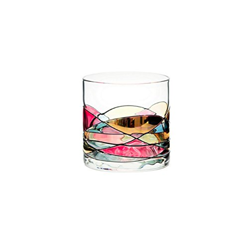 ANTONI BARCELONA Whiskey Glass 12oz - Unique Lowball Glass, Drinking Glasses, Old Fashioned Glasses, Bourbon, Scotch & Rocks Glass – Unique Gifts Set For Men, Women, Dad, Him, Groom (1) - Barcelona Tower