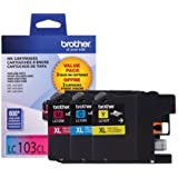 Brother Printer LC1033PKS Ink, 3 Pack, 1 color each of Cyan, Magenta, Yellow