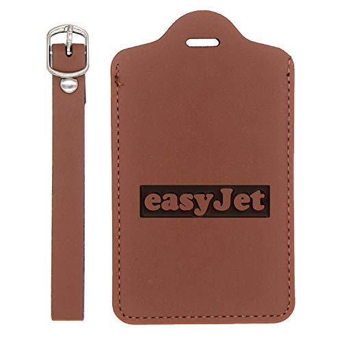 LOGO EATON 1 ENGRAVED SYNTHETIC PU LEATHER LUGGAGE TAG (CHESTNUT BROWN) - UNITED STATES STANDARD - HANDCRAFTED BY MASTERCRAFTSMEN - FOR ANY TYPE OF LUGGAGE