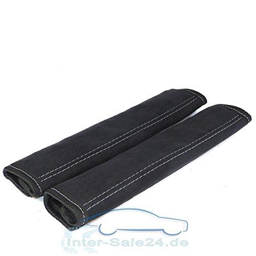 L&P A0132 Gurtschoner Gurtpolster aus Microfaser in schwarz mit grauer Naht Universell passend bis Max. 5cm Gurtbreite L&P Car Design GmbH