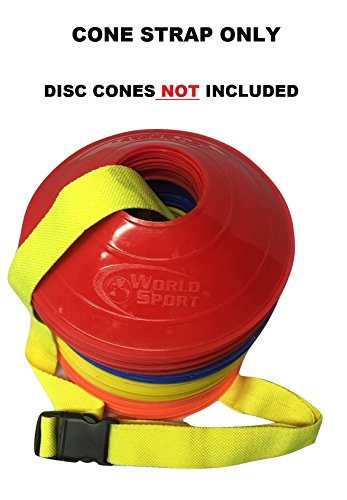 World Sport Neon Yellow Disc Cone Carry Strap
