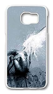 Brian114 Case, S6 Case, Samsung Galaxy S6 Case Cover, Fallen Retro Protective Hard PC Back Case for S6 ( white )
