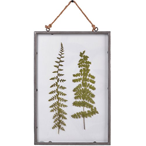 Leaves Wall Plaques - NIKKY HOME Vintage Metal Framed Fern Botanical Wall Hanging Plaque with Rope 10