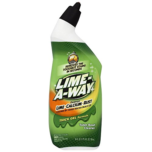 Lime-A-Way Liquid Toilet Bowl Cleaner, 24 fl oz Bottle, Removes Lime Calcium Rust (Pack of ()