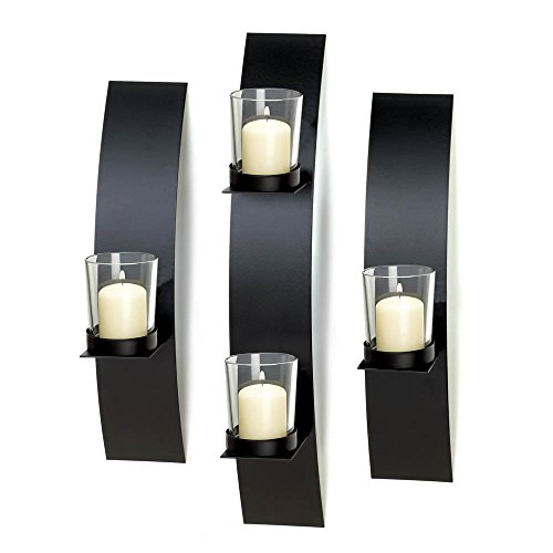 Koehler 10015844 14 Inch Contemporary Wall Sconce Trio (Sconces Contemporary Candle)