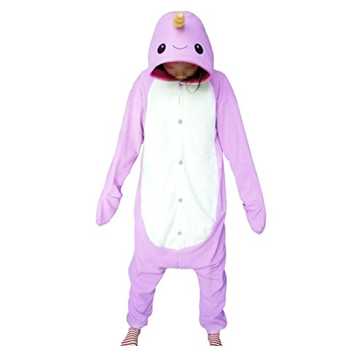 WOTOGOLD Animal Cosplay Costume Narwhal Unisex Adult Pajamas Purple (Exotic Animals Costume)