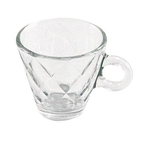 Bormioli Rocco Kaleido Espresso Coffee Glasses - Set Of 6-100ml - Bormioli Espresso Cups Rocco