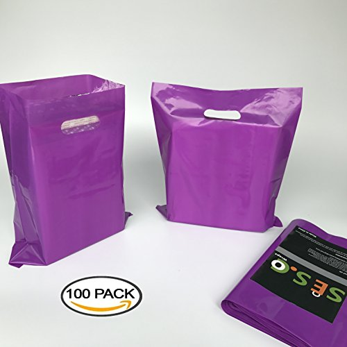 sesco-12x15-inches-premium-glossy-purple-plastic-merchandise-bags-die-cut-shopping-bags-retail-bags-
