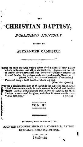 The Christian Baptist - vol. III (Alexander Campbell)