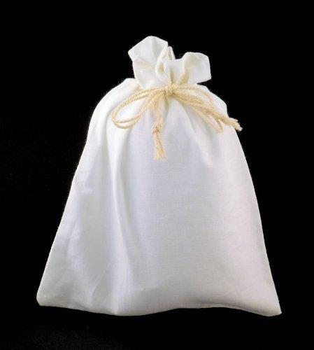 Baumwollsäckchen gross 50 Stück - 15 x 20 cm - Baumwollbeutel Säckchen Beutel aus Baumwolle Baumwollsack Leinen Leinensäckchen Leinenbeutel Moritzen-Verpackungen