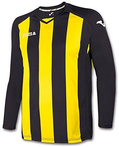 Joma 1202.99 - Camiseta de equipación de manga larga para mujer Negro / Amarillo