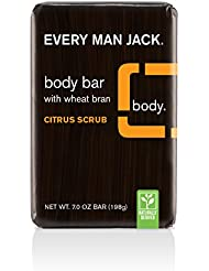 Every Man Jack Body Bar, Citrus Scrub, 7 Ounce (Packaging May Vary)