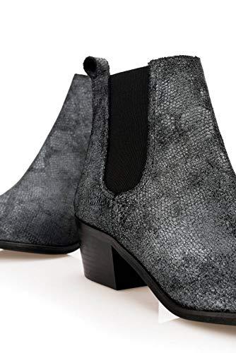 Grey Salsa Boots With Low Heel 80nnpZaBqv