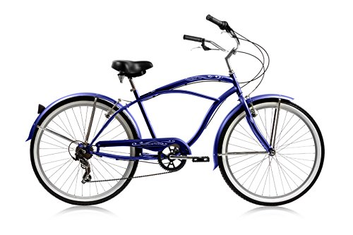 Micargi Pantera 7-speed 26″ for men (Blue), Beach Cruiser Bike Schwinn Nirve Firmstrong Style