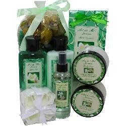 Jasmine Floral Spa Gift Set by Art de Moi, 8 Piece Kit with Shower Gel, Moisturizing Lotion, Fragrance Spray, Bath Salts, Body Butter, Body Scrub, Soap Flower Petals and Potpourri ()