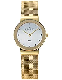 Womens Freja Quartz Stainless Steel Mesh Casual Watch, Color: Gold-Tone (Model