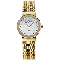 Skagen Women's 358SGGD Freja Gold Mesh Watch