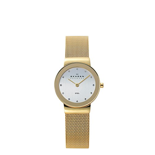 (Skagen Women's Ancher Quartz Stainless Steel Mesh Casual Watch, Color: Gold-Tone (Model: 358SGGD))