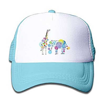 Xu Li Piang Trucker Caps Boy and Girls Funny Giraffe and Elephant Mesh Baseball Hat