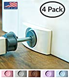 Wall Nanny - Baby Gate Wall Protector (Made in USA) Protect Walls & Doorways from Pet & Dog Gates - for Child Pressure Mounted Stair Safety Gate - No Safety Hazard on Bottom Spindles - Saver