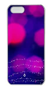 Blinking Light PC Transparent slim iphone 5 cases for Apple iPhone 5/5S