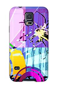 Hot Funky Paint First Grade Tpu Phone Case For Galaxy S5 Case Cover