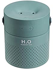 1.1 l Large Capacity Air - humidifier Dual Spray 4000 mha USB rechhargeable Wireless ULTRASONIC Aroma difuser Light foger Green