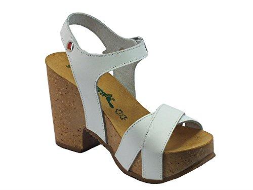 Bionatura 36 A 907 Pelle Bianco - Sandalias de vestir de Piel para mujer Bianco