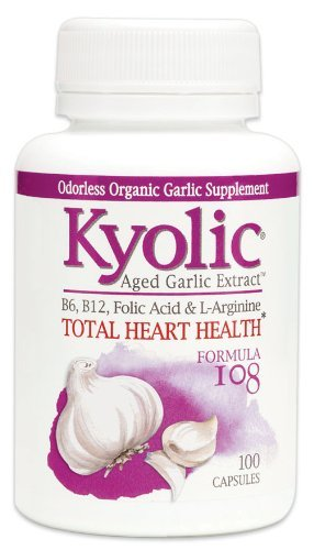 Kyolic Formula 108 Aged Garlic Extract Total Heart Health (100-Capsules) by Kyolic
